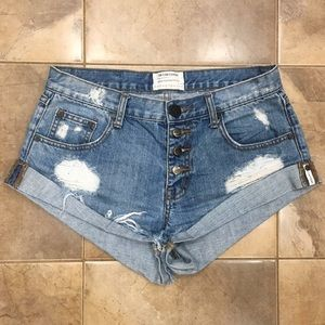 One Teaspoon x Free People Bandits Distressed 28